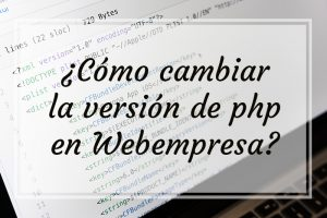 Cambiar version php hosting